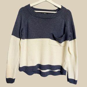 Raglan Dip Hem Sweater